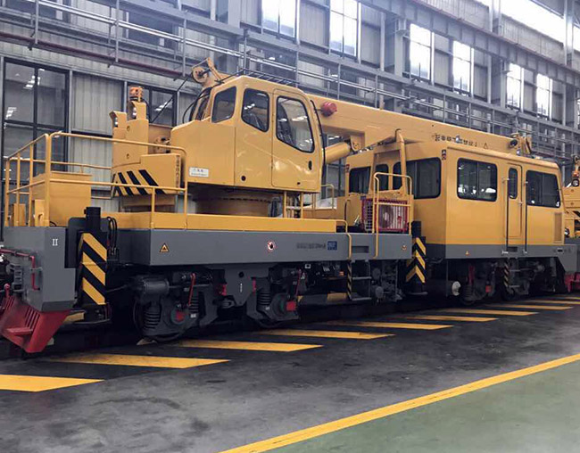 25 tons railroad crane before delivery