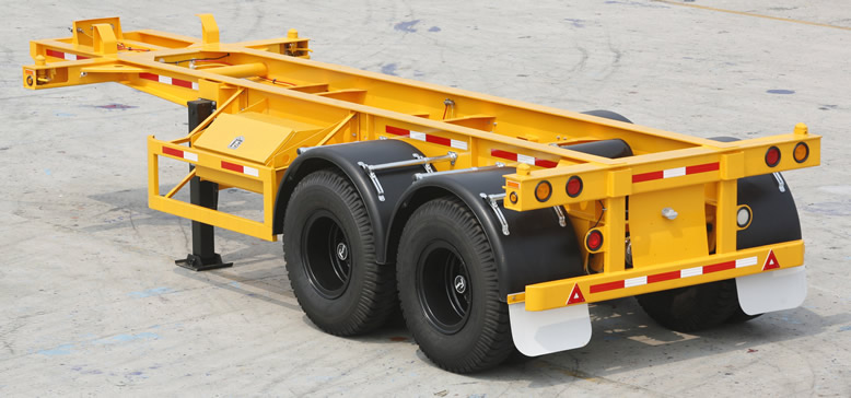 20' skeleton container chassis trailer