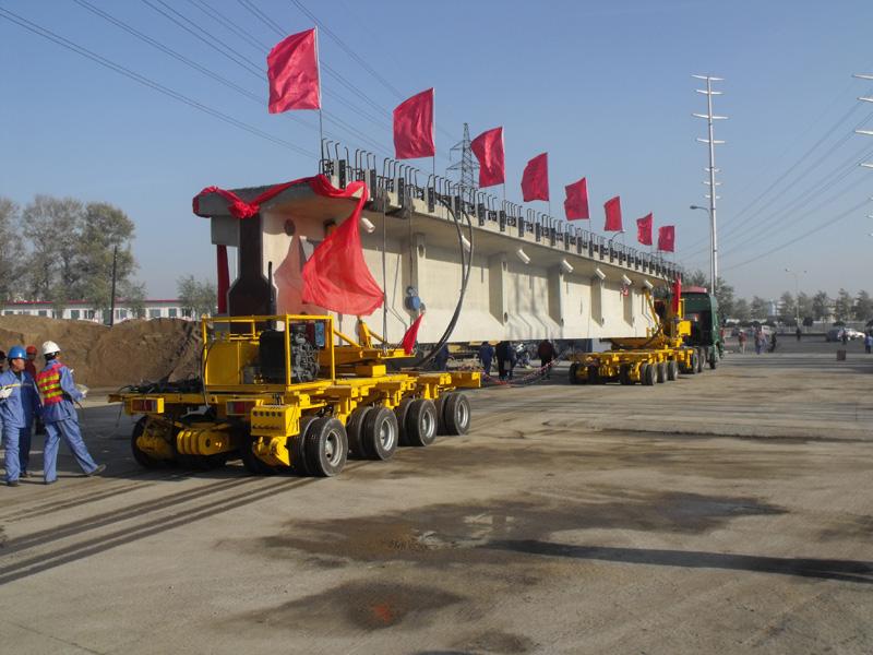 Hydraulic long beam trailer