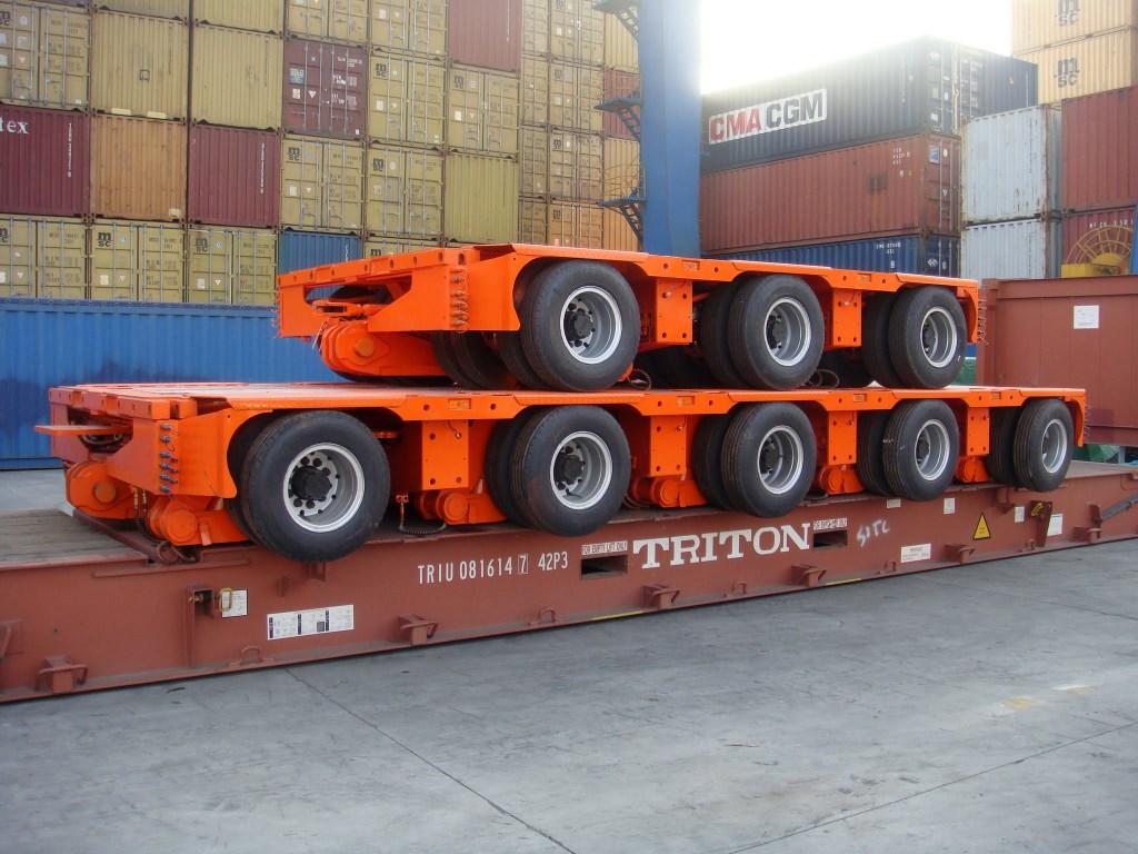 Modular trailer stack in flat rack