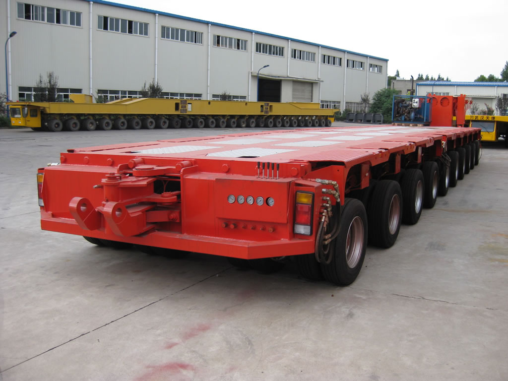 Nicolas modular trailer ready for delivery