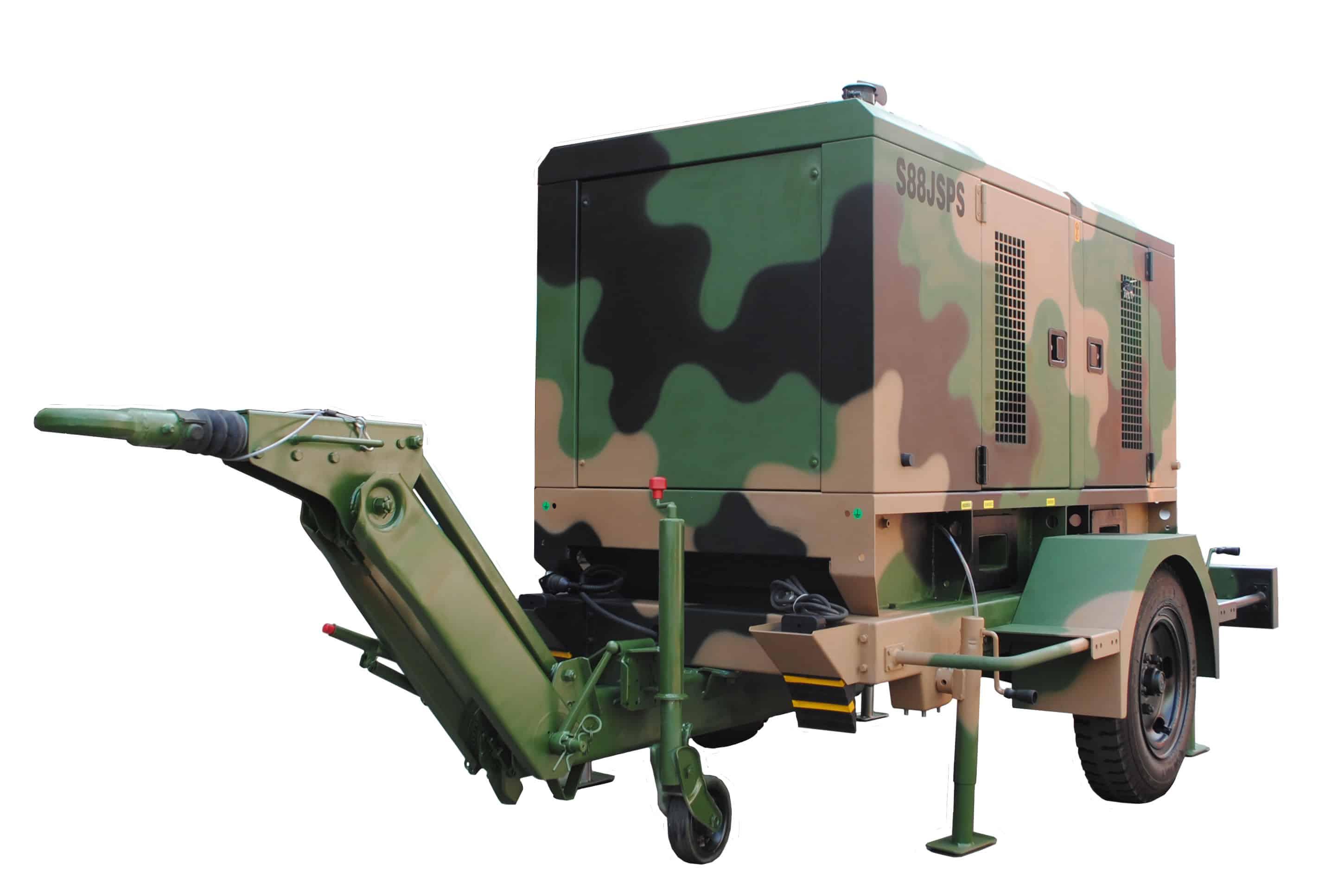 1 axle camouflage pattern generator trailer