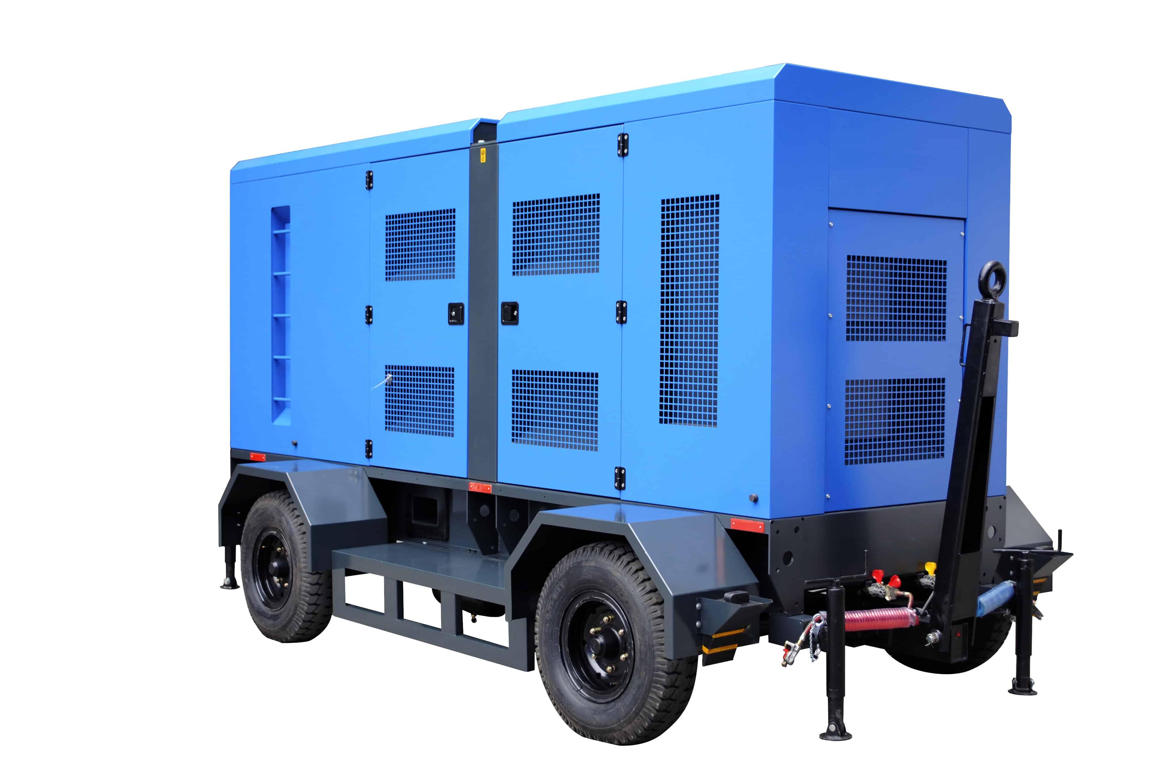 4 landing-gears generator trailer