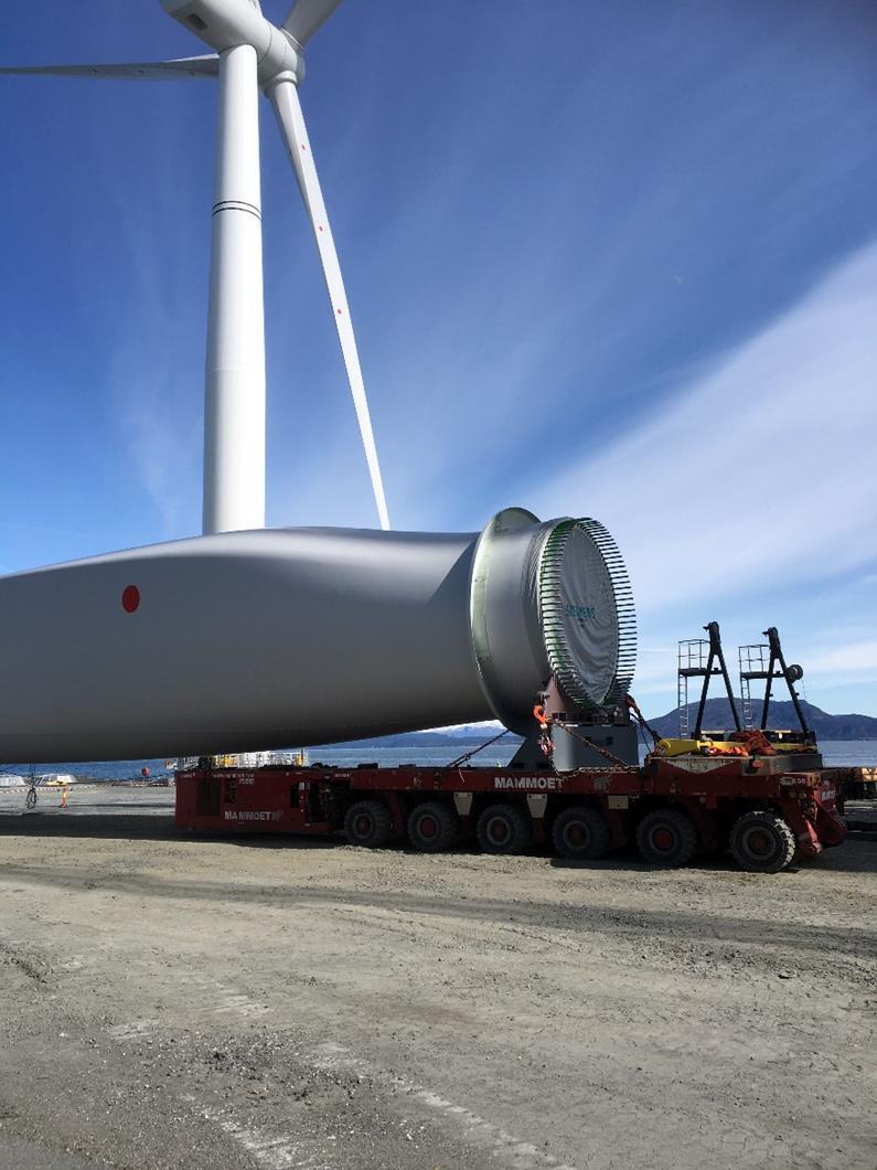 SPMT运输风叶发电机叶片