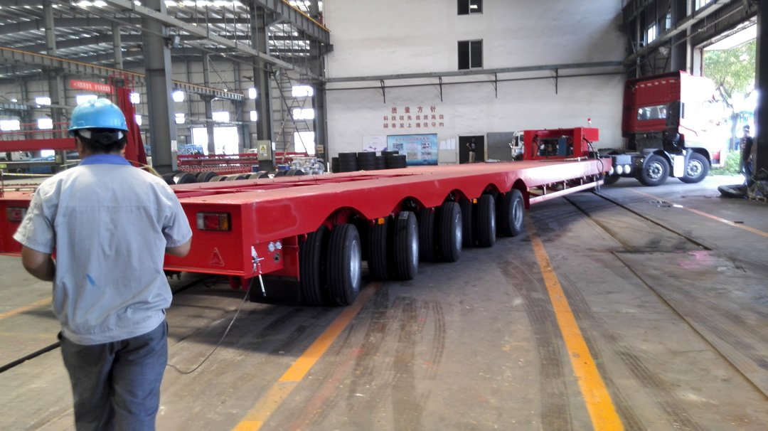 Steerable 5-axles lowbed
