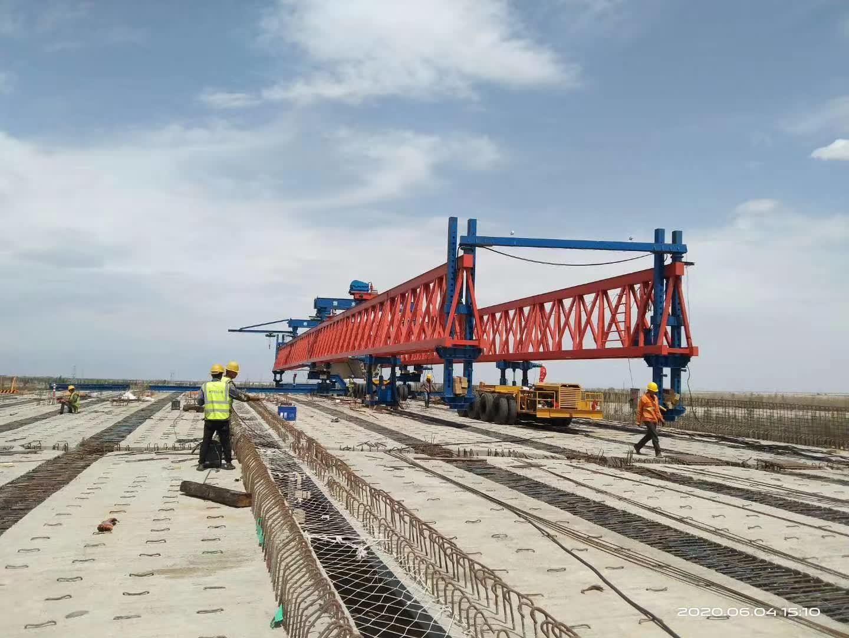 Bridge beam trailer in Hami