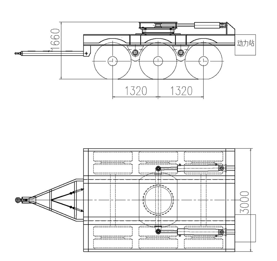 Drawing of Steering Dolly