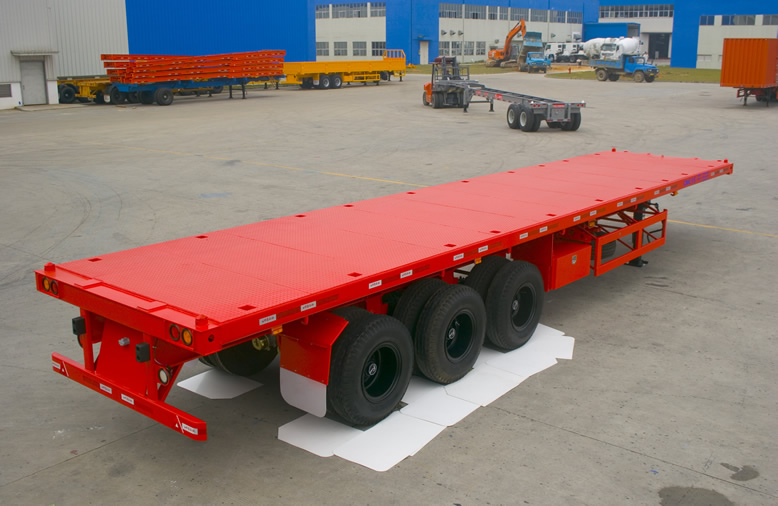 40' 3 axles flatbed trailer