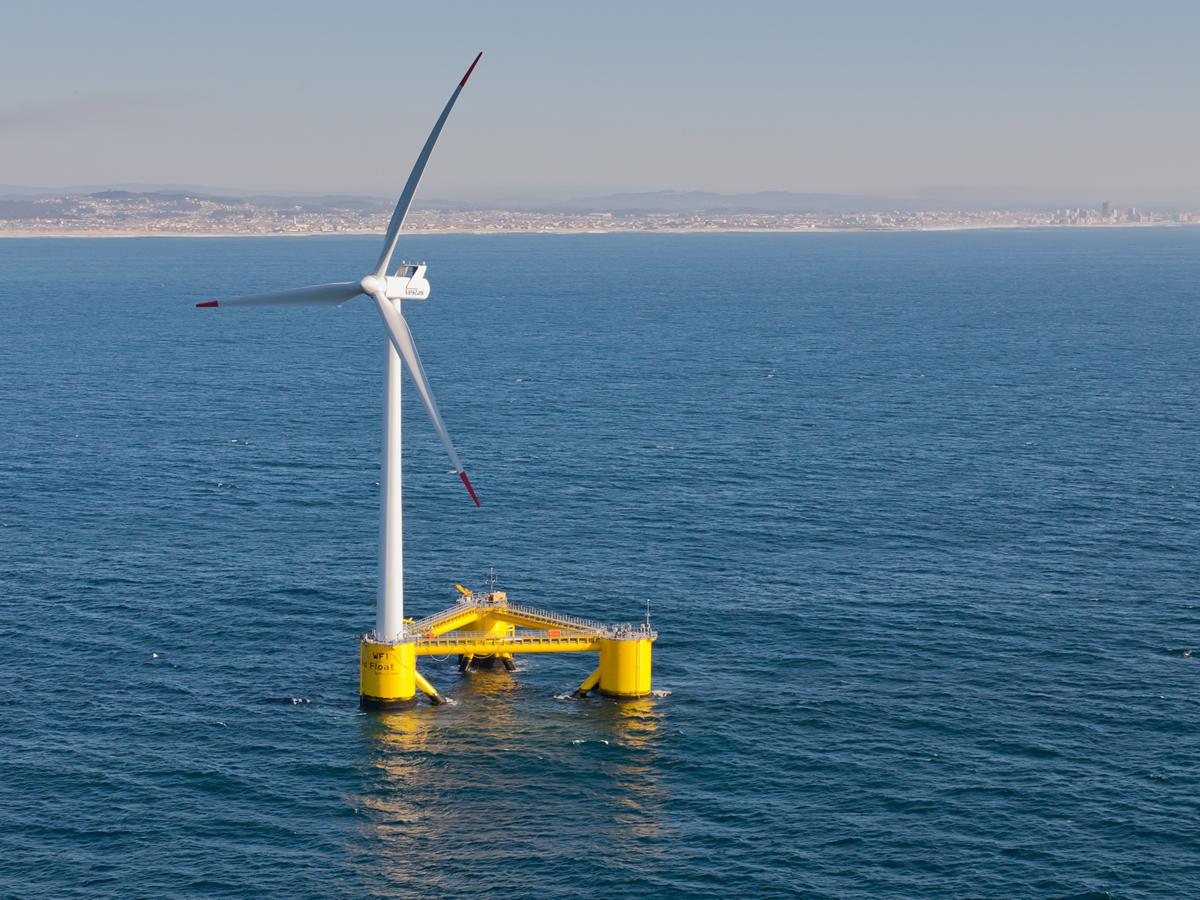 未有起重船参与安装的2兆瓦浮动海上风力发电机