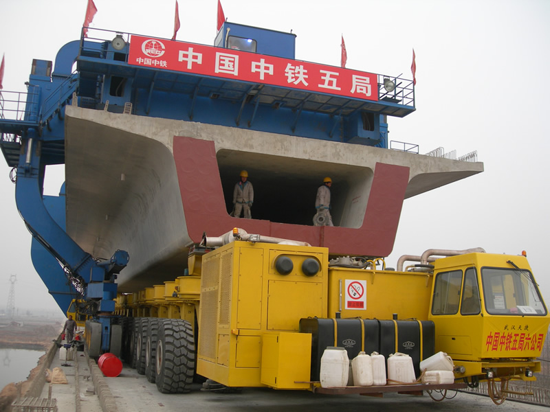 900 tons pre-cast box girder transporter