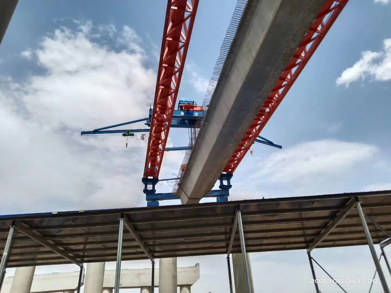 Launching process of the bridge beam