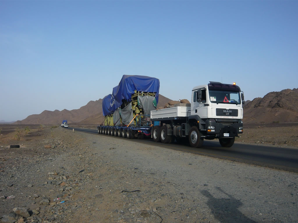 Nicolas MDED hydraulic multi axle trailer in Kenya