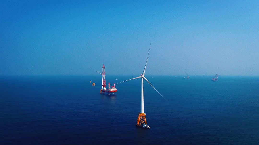 Offshore windmill turbines