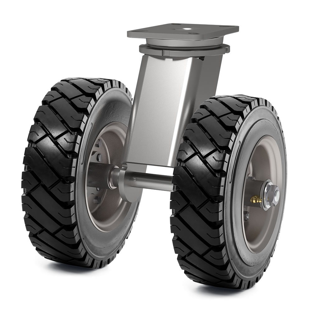 Polyurethane tires with suspension