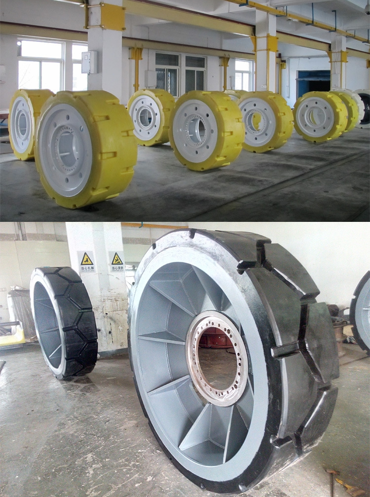 Industrial heavy-duty polyurethane tires