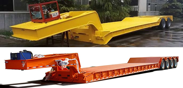 Removable neck semi-trailers