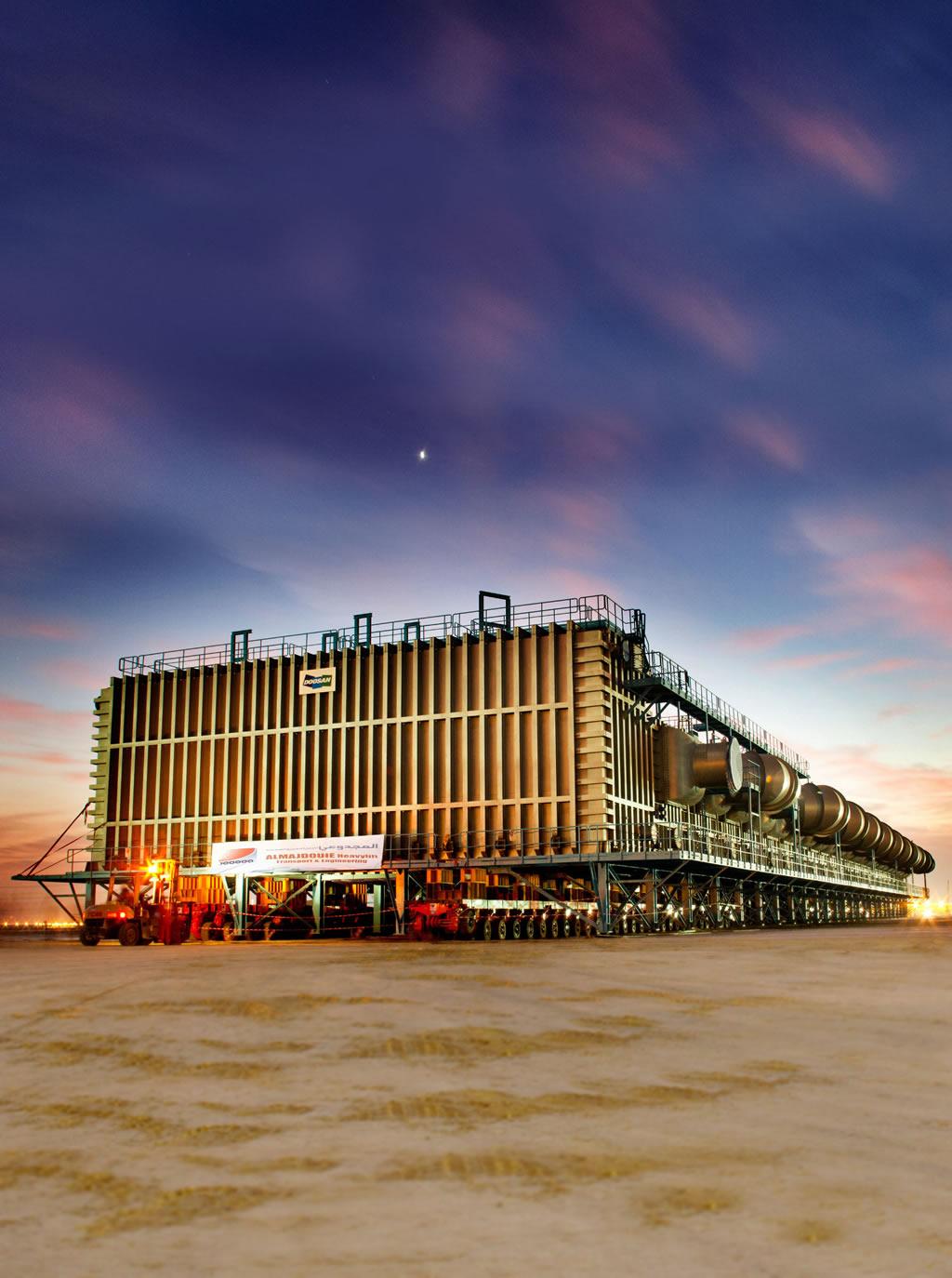 5000吨海水淡化设备运输