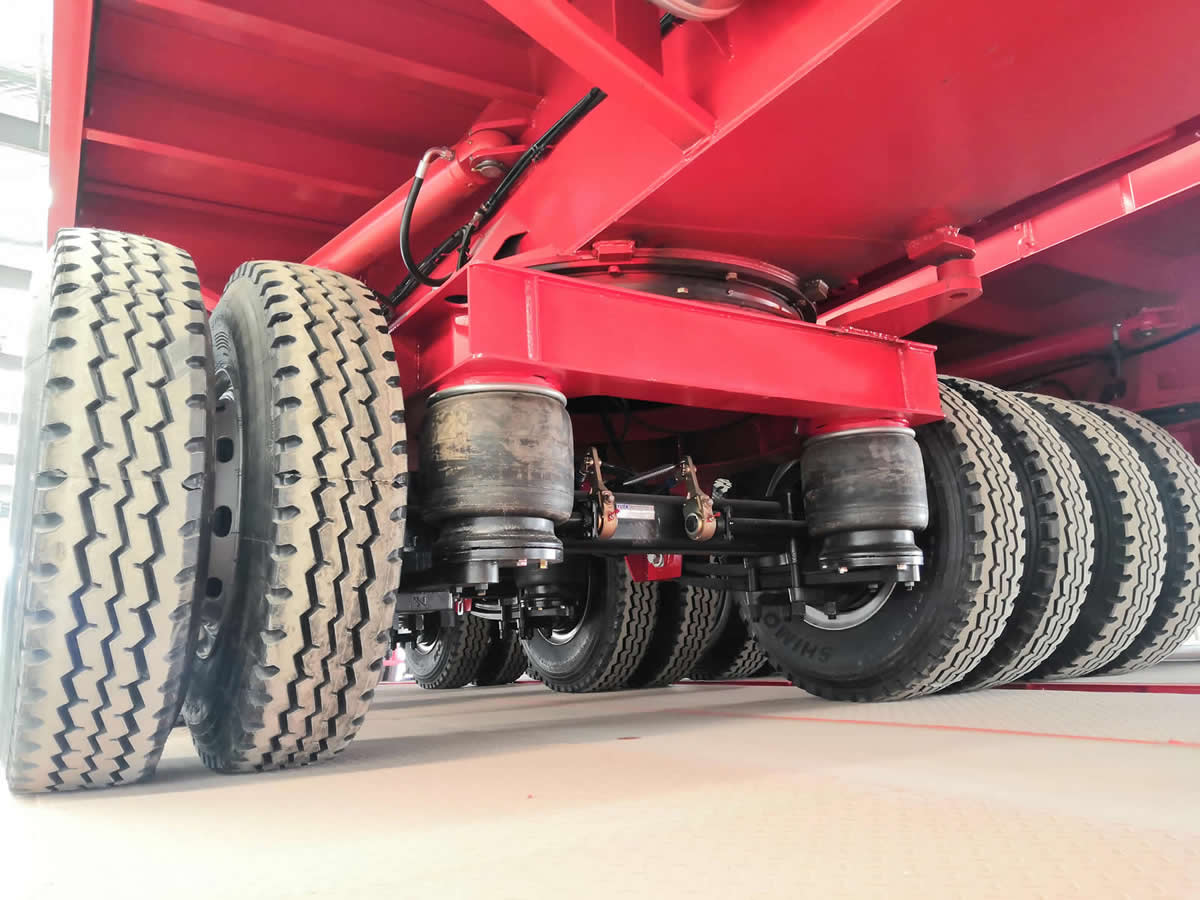 Airbag suspension of the windmill trailer